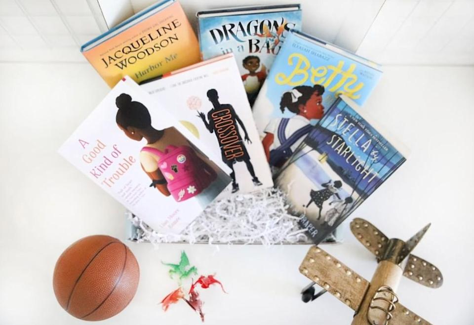"""<a href=""""https://fave.co/3dj13pL"""" target=""""_blank"""" rel=""""noopener noreferrer"""">Just Like Me! Box</a> tackles the lack of children's books that center around African-American characters. Every box includes two to three books featuring characters of color and activities for kids to enjoy with the family. The service thrives on its mission of """"exposing children of color to literature, characters, authors and stories that are reflective of them."""" <a href=""""https://fave.co/3dj13pL"""" target=""""_blank"""" rel=""""noopener noreferrer"""">Boxes are $28 per month</a> (customers can also prepay for six or 12 months)."""