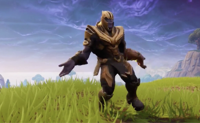 Nothing's goofier than Thanos doing a victory dance.