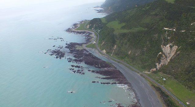 The earthquake badly affected SH1 north of Kaikoura. Photo: Tonkin+Taylor