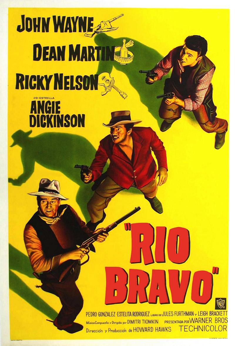 Rio Bravo, poster, John Wayne, Dean Martin, Ricky Nelson, 1959. (Photo by LMPC via Getty Images)