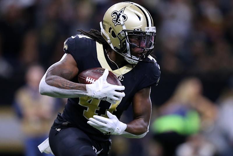 Alvin Kamara #41 of the New Orleans Saints