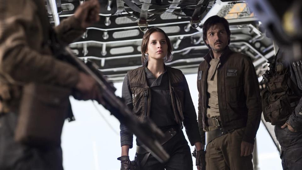 <p> Rogue One takes the Star Wars universe in a direction it's never been in before. There's not a single proper Jedi, barely any lightsaber action, and only a few recognisable characters. Yet, Rogue One works because it fully commits to being different to the other Star Wars movies on this list. </p> <p> The Star Wars story is a gritty war movie about never giving up despite the insurmountable odds. Headlined by Felicity Jones, Rogue One succeeds in killing off its main cast while also offering a glimpse of hope at the end. Plus, it leads into A New Hope seamlessly, with a spine-chilling final scene that's almost perfect. </p>