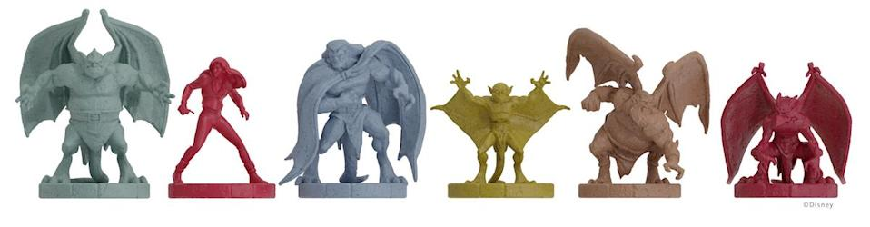 Six minifigs for the Gargoyles board game