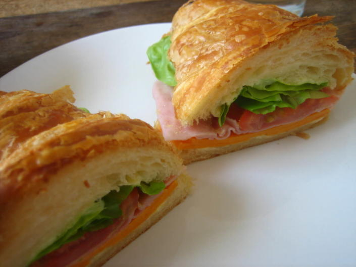 <p>Don't let your last croissant go to waste - make it into a sandwich with a cheese, ham and lettuce filling. <i>[Photo: Flickr / Jeremy Keith]</i></p>