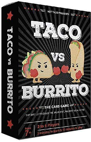 """<p><strong>Taco vs Burrito</strong></p><p>amazon.com</p><p><strong>$19.99</strong></p><p><a href=""""https://www.amazon.com/dp/B07JZTBV9C?tag=syn-yahoo-20&ascsubtag=%5Bartid%7C10050.g.23838030%5Bsrc%7Cyahoo-us"""" rel=""""nofollow noopener"""" target=""""_blank"""" data-ylk=""""slk:Shop Now"""" class=""""link rapid-noclick-resp"""">Shop Now</a></p><p>Yes, this game's really called """"Taco vs Burrito."""" And yes, it's every bit as wacky and wonderful as it sounds.</p>"""