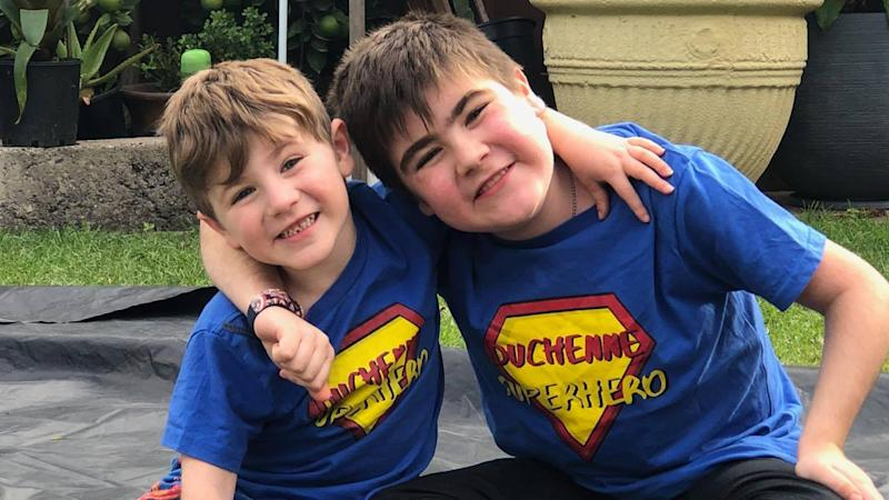 Tarek, 4, and Riley Brown, 8, were both diagnosed with Duchenne muscular dystrophy (DMD).