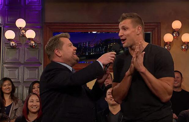 Rob Gronkowski Says He'll Return to the NFL – But Only If the Patriots Sign James Corden (Video)