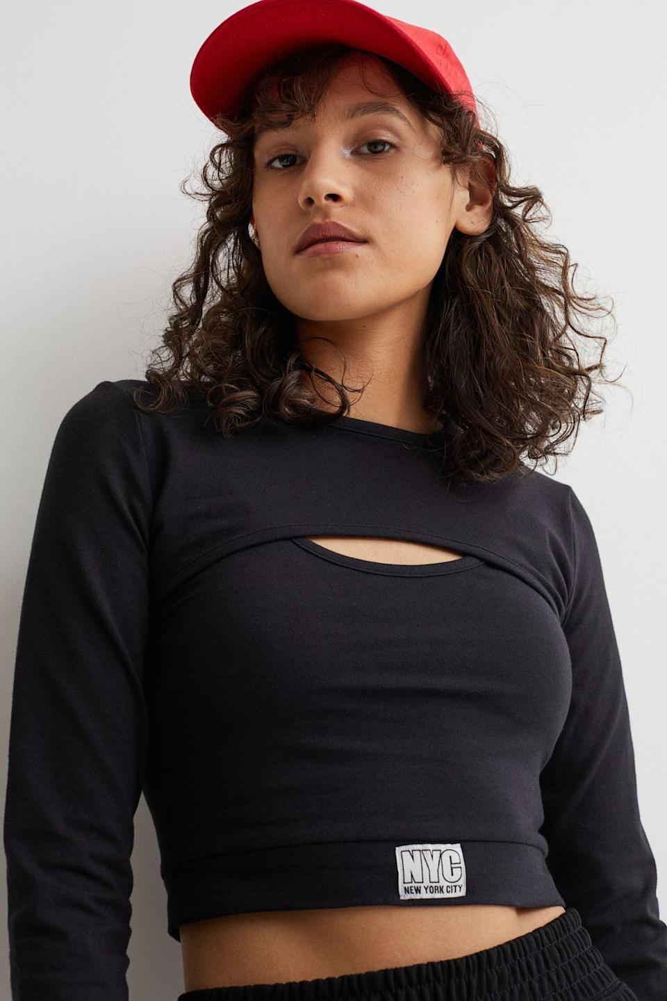 <p>This <span>Two-part Crop Top</span> ($20) styled with a tennis skirt will be the ultimate sporty and cool look. But it's super versatile to wear with jeans and shorts.</p>