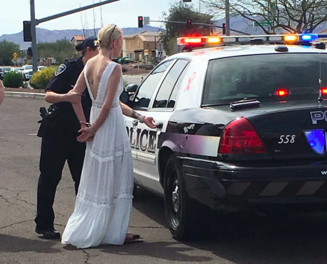 Amber Young received matching bracelets before her wedding -- but they weren't on the bridal registry. (Marana Police Department)