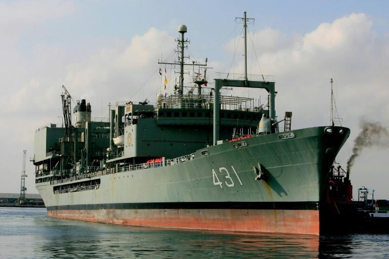 The vessel which sank was important to the Iranian navy as its only dedicated vessel able to resupply warships at sea