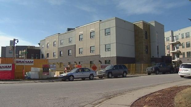 Templemont Care Centre and Templemont Place are two affordable housing developments being built in northeast Calgary. The federal government announced in April it would contribute up to $12.5 million to the project under the rapid housing initiative. (Mike Symington/CBC - image credit)