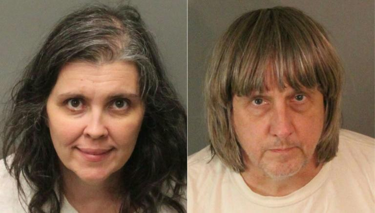 David Allen Turpin (R) and Louise Anna Turpin, pictured in booking photos from the Riverside County Sheriff's Department, registered their home as a school but used it to hold their 13 children captive, authorities say