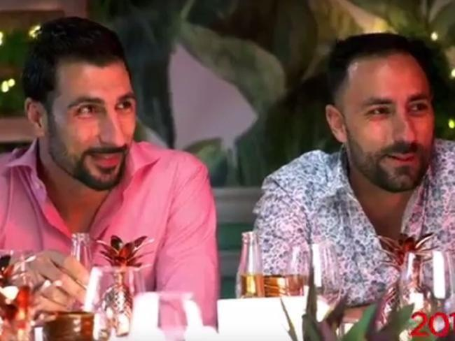The two male contestants that on next year's season who are belived to be involved in the altercation. Source: Supplied