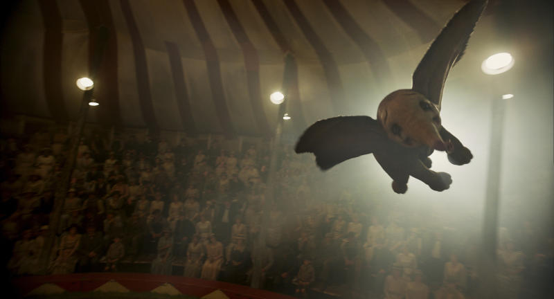 "This image released by Disney shows a scene from ""Dumbo."" (Disney via AP)"