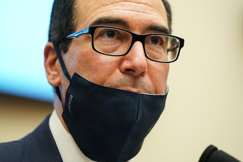 US Treasury Secretary Steven Mnuchin says a stimulus deal is unlikely to be reached before the November election. (Credit: Joshua Roberts/Reuters)