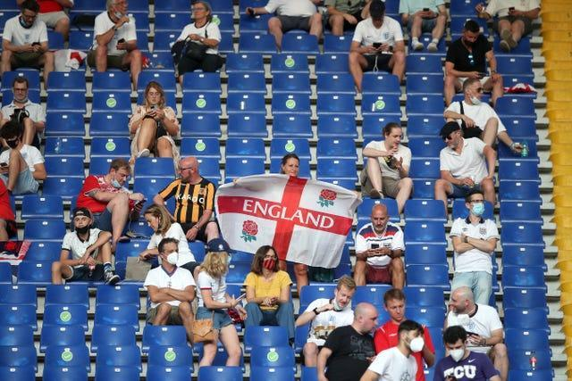 England fans in the Stadio Olimpico