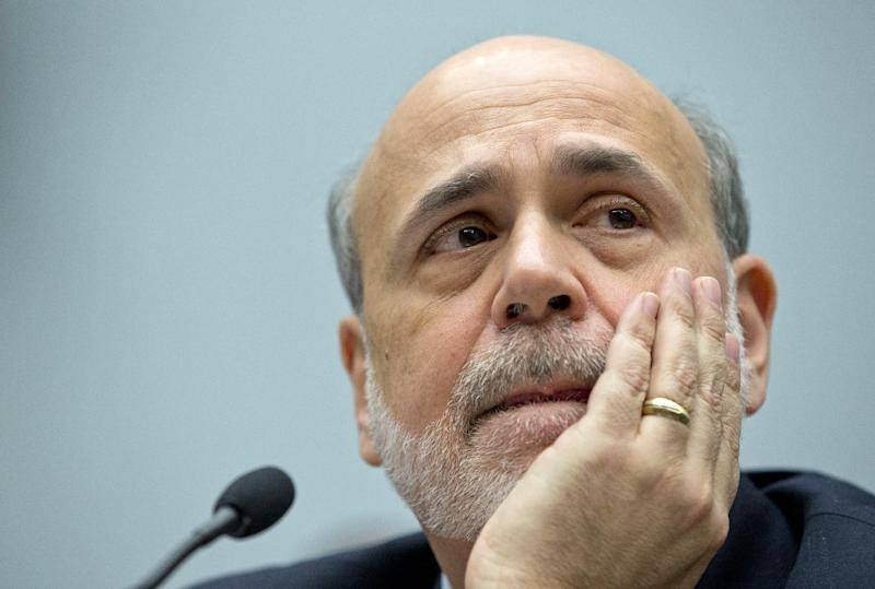 Federal Reserve Chairman Ben Bernanke pauses to listen to questions as he testifies on Capitol Hill in Washington, Wednesday, Feb. 27, 2013, before the House Financial Services Committee hearing on: Monetary Policy and the State of the Economy. (AP Photo/Carolyn Kaster)