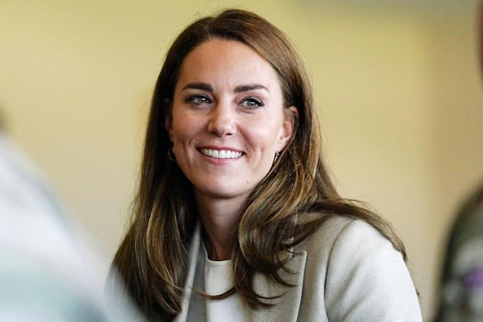 The Duchess of Cambridge during a visit to RAF Brize Norton