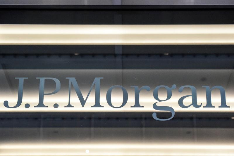 FILE PHOTO - JPMorgan Chase & Co logo in New York City