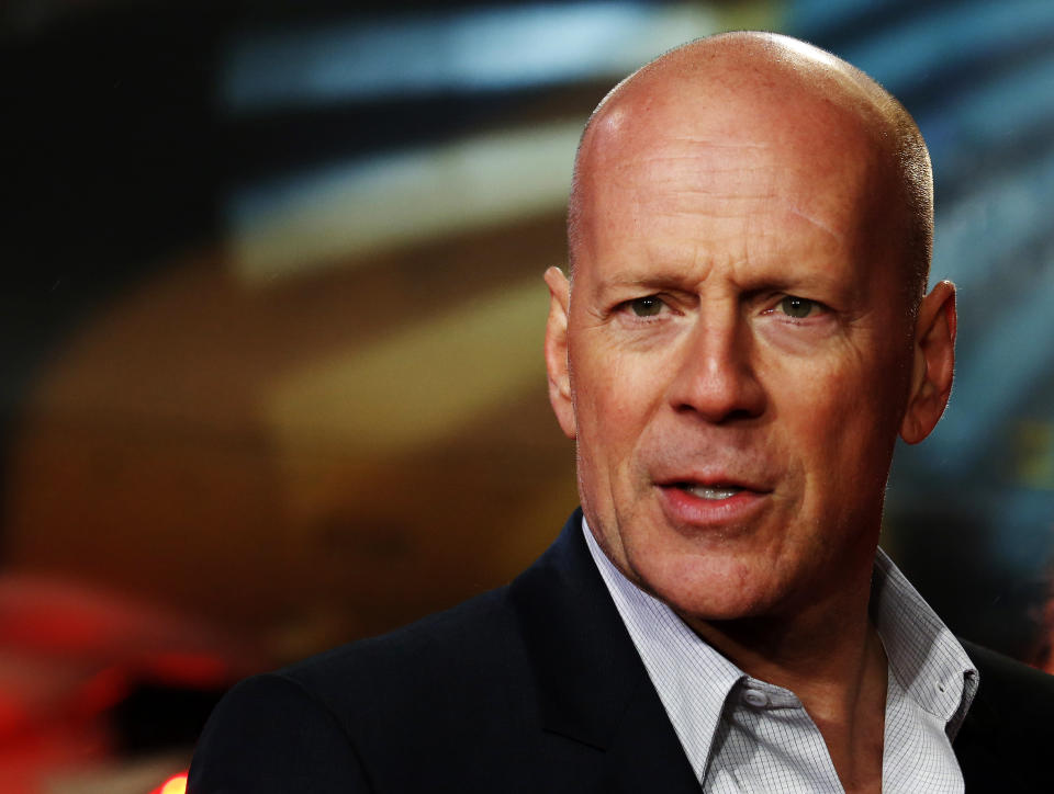 """Actor Bruce Willis arrives for the British premiere of """"A Good Day to Die Hard"""" at Leicester Square in London February 7, 2013. REUTERS/Luke MacGregor (BRITAIN - Tags: ENTERTAINMENT HEADSHOT)"""