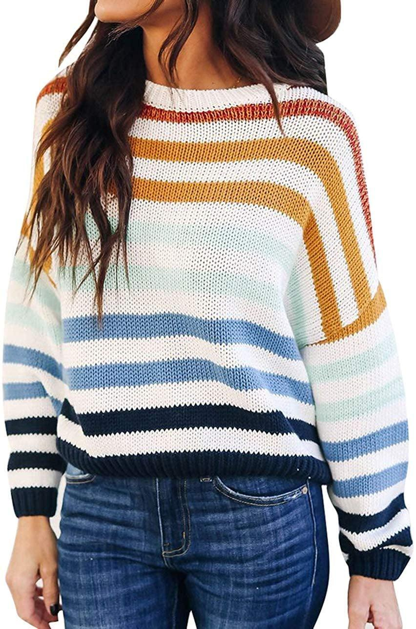 """<p>We're seeing this adorable <a href=""""https://www.popsugar.com/buy/Zesica-Striped-Pullover-Sweater-511983?p_name=Zesica%20Striped%20Pullover%20Sweater&retailer=amazon.com&pid=511983&price=23&evar1=fab%3Aus&evar9=47134182&evar98=https%3A%2F%2Fwww.popsugar.com%2Ffashion%2Fphoto-gallery%2F47134182%2Fimage%2F47134191%2FZesica-Striped-Pullover-Sweater&list1=shopping%2Camazon%2Csweaters%2Cwinter%20fashion&prop13=mobile&pdata=1"""" class=""""link rapid-noclick-resp"""" rel=""""nofollow noopener"""" target=""""_blank"""" data-ylk=""""slk:Zesica Striped Pullover Sweater"""">Zesica Striped Pullover Sweater</a> ($23) all over Instagram.</p>"""