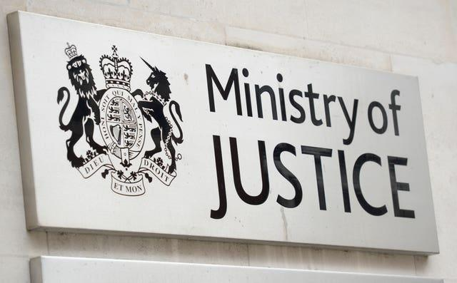 A view of signage for the Ministry of Justice (Kirsty O'Connor/PA)