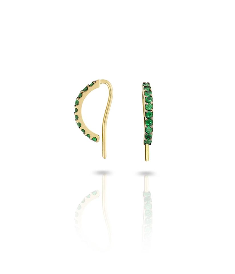 "<p>Emerald Norah Earrings, $1,400, <a rel=""nofollow"" href=""https://www.modaoperandi.com/ana-khouri-r18/morah-earrings"">modaoperandi.com</a> </p>"