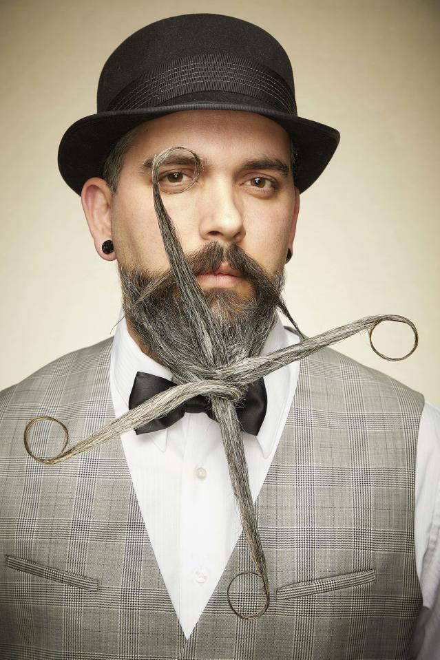 We like how this sundial beard is styled at just the right angles. [Photo: Caters]