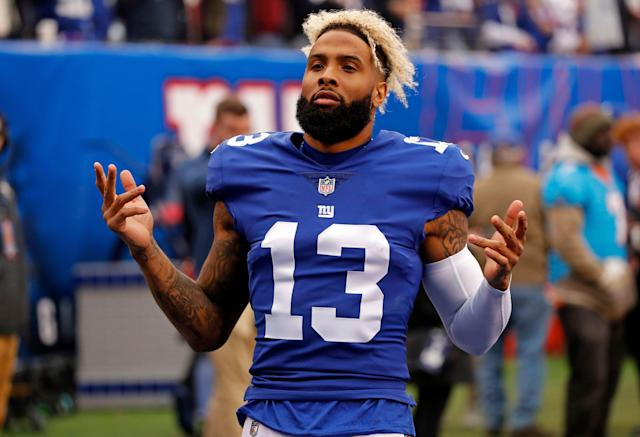 Former New York Giants wide receiver Odell Beckham (13) lands in a pretty good spot with the Browns. (AP)