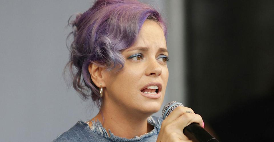 Lily Allen has pulled out of several US concerts. (PA Images)