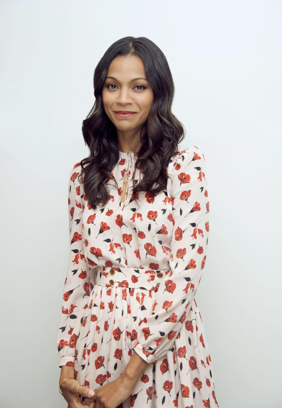 """<p>One of the few members of the Hollywood A-list <a href=""""http://www.harpersbazaar.com/celebrity/latest/news/a19982/zoe-saldana-trump-bullied/"""" rel=""""nofollow noopener"""" target=""""_blank"""" data-ylk=""""slk:self-aware enough"""" class=""""link rapid-noclick-resp"""">self-aware enough</a> to realise that Hollywood A-list<span>ers moralising about politics wasn't likely to help the liberal cause, Zoe Saldana is by all accounts one of the most down to earth Beautiful People in the world of Beautiful People. </span></p>"""