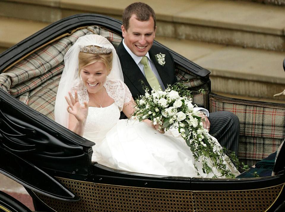 Peter Phillips and Autumn on their wedding day