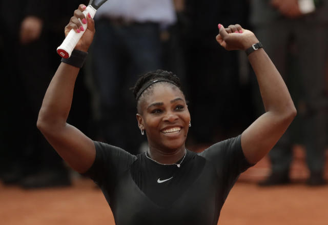 Serena Williams after defeating Julia Görges on Saturday. (Photo: Thomas Samson/AFP/Getty Images)