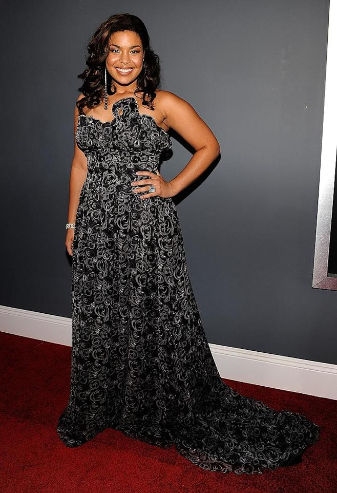 "Good: Jordin Sparks sparkled in a silver patterned custom creation courtesy of Debra Davenport. Larry Busacca/<a href=""http://www.gettyimages.com/"" target=""new"">GettyImages.com</a> - February 8, 2009"