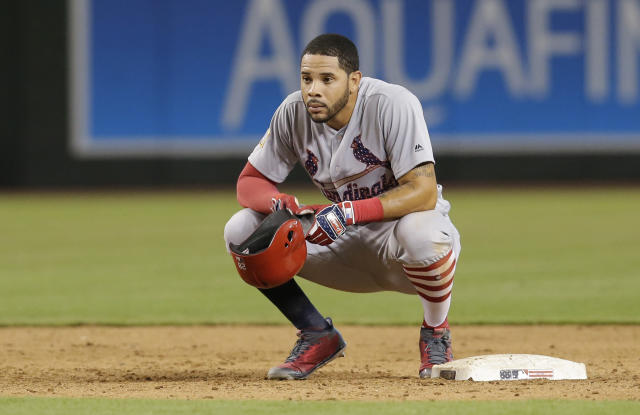 Outfielder Tommy Pham is saying goodbye to the Cardinals and hello to the Rays. (AP Photo/Rick Scuteri)