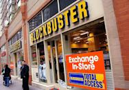<p>Blockbuster, which was created in 1985, once had over 9,000 locations. It was a video rental store, where customers could rent videos and DVDs. In 2013, the chain announced it would begin closing all of its stores. Now, only a single Blockbuster remains in Bend, Oregon. </p>
