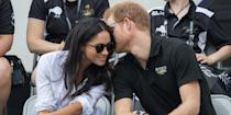 <p>The first time the couple were pictured together in public, at the wheelchair tennis on day 3 of the Invictus Games 2017, they made no attempt to hide how into each other they were. Just look at Prince Harry whispering sweet nothings into Meghan's ear.</p>