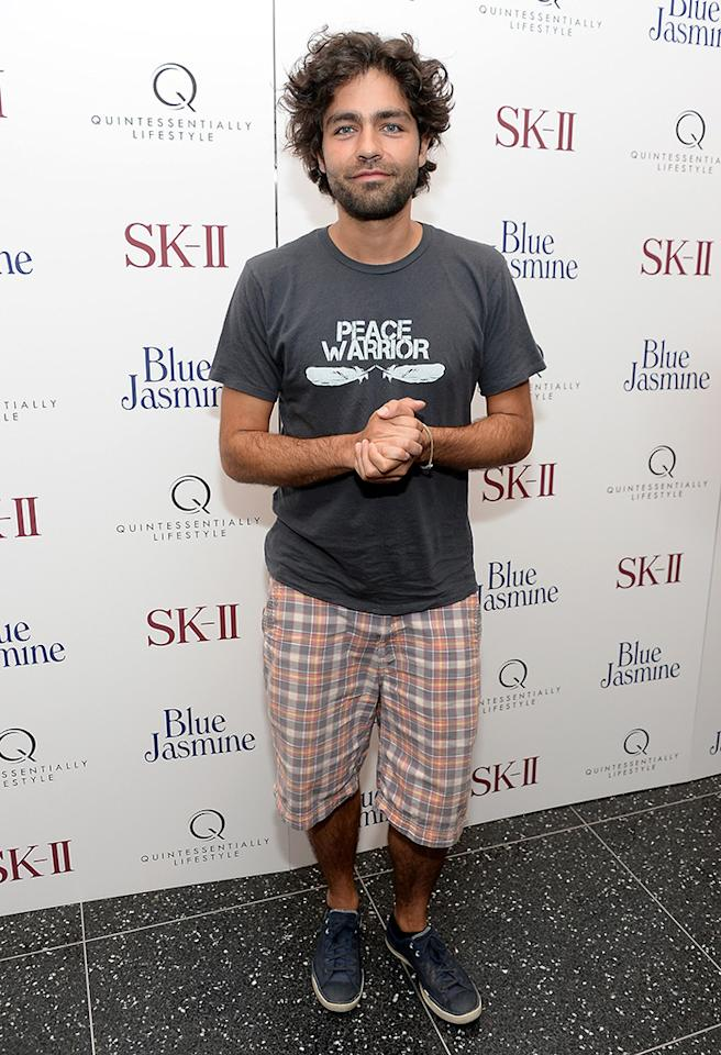 "NEW YORK, NY - JULY 22:  Adrian Grenier attends the ""Blue Jasmine"" New York Premiere at the Museum of Modern Art on July 22, 2013 in New York City.  (Photo by Dimitrios Kambouris/WireImage)"