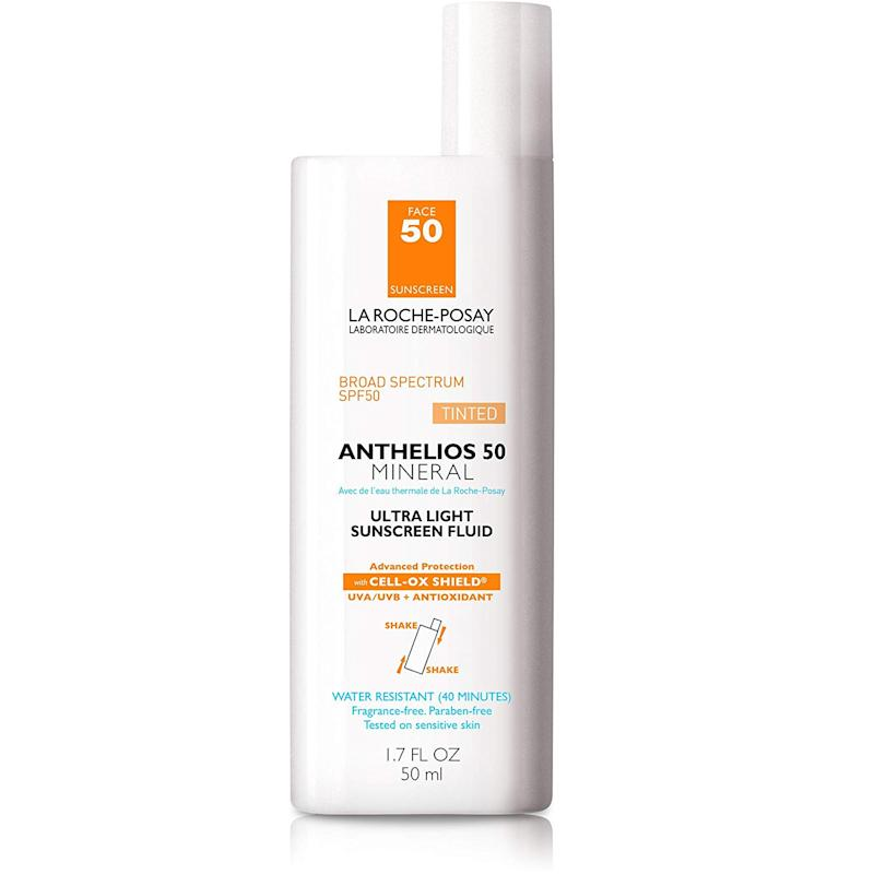 La Roche-Posay Anthelios Tinted Mineral Ultra-Light Fluid Broad Spectrum SPF 50 (Credit: Amazon)