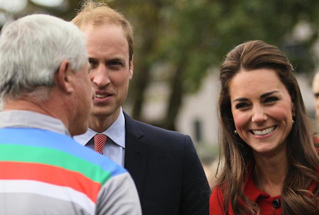 CHRISTCHURCH, NEW ZEALAND - APRIL 14: Sir Richard Hadlee, (L) ICC Cricket World Cup 2015 Ambassador explains to Prince William, Duke of Cambridge and Catherine, Duchess of Cambridge how to play cricket before a game during the countdown to the 2015 ICC Cricket World Cup at Hagley Oval on April 14, 2014 in Christchurch, New Zealand. The Royal couple are currently in New Zealand and touring the country until Wednesday, when they then head to Australia. Today the Royals visit the redevelopments at Hagley Oval, the venue for ICC Cricket World Cup 2015 matches in Christchurch. (Photo by Joseph Johnson/Getty Images for ICC Cricket World Cup)