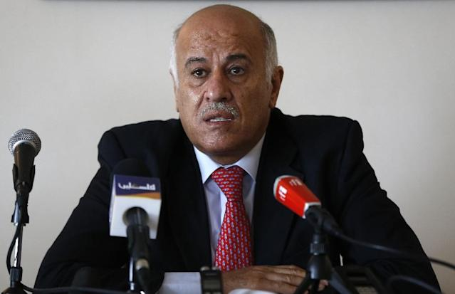 Palestinian football chief Jibril Rajoub (pictured) was responding to media reports that Netanyahu had personally telephoned FIFA president Gianni Infantino (AFP Photo/Abbas MOMANI)