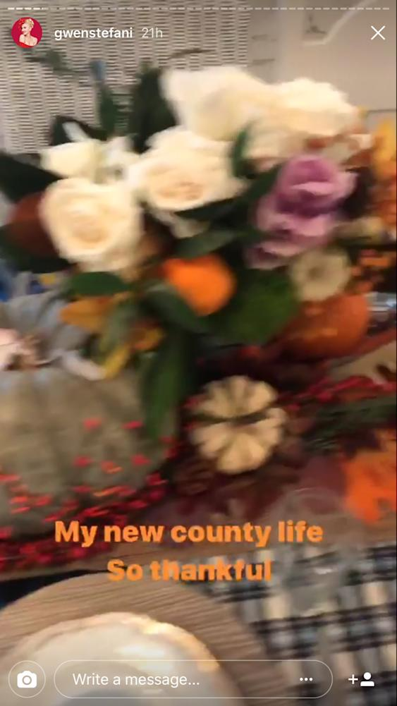 Gwen Stefani shows off her family Thanksgiving celebration on Instagram