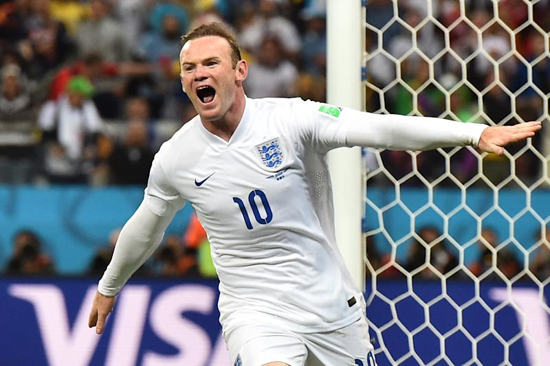 A file photo shows England's forward Wayne Rooney during a World Cup match in Sao Paulo, June 2014