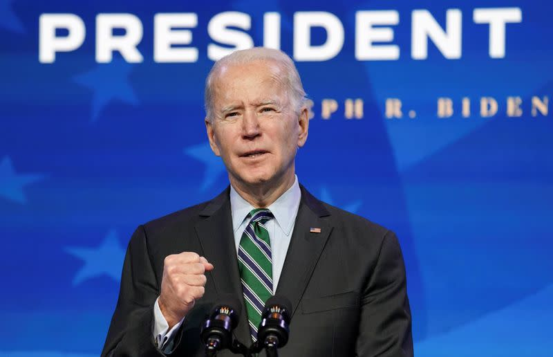 FILE PHOTO: U.S. president-elect Joe Biden announces his science team in Wilmington, Delaware