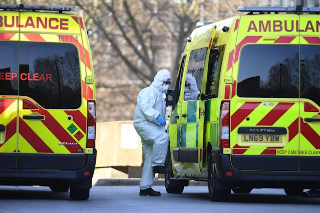 The London Ambulance Service is responding to a record number of 999 calls. (AFP via Getty Images)