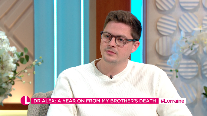 Dr Alex George admitted it was hard to believe a year had passed since his brother died. (ITV)