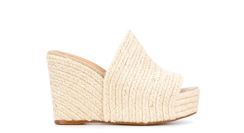 Castañer open toe raffia wedges