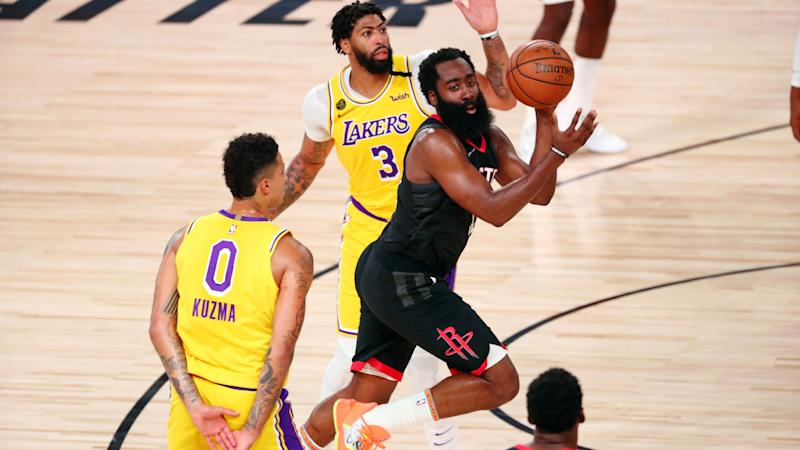 Harden leads Rockets past LeBron-less Lakers, Giannis stars