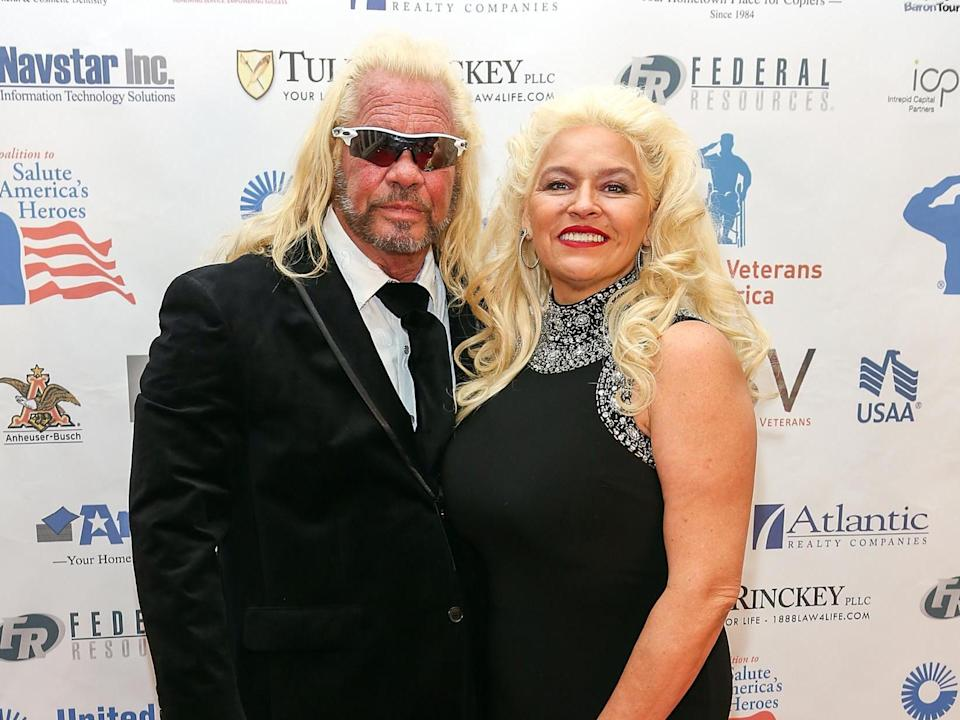 Duane 'Dog the Bounty Hunter' Chapman and wife Francie Frane have joined the hunt for Mr Laundrie (Getty Images)