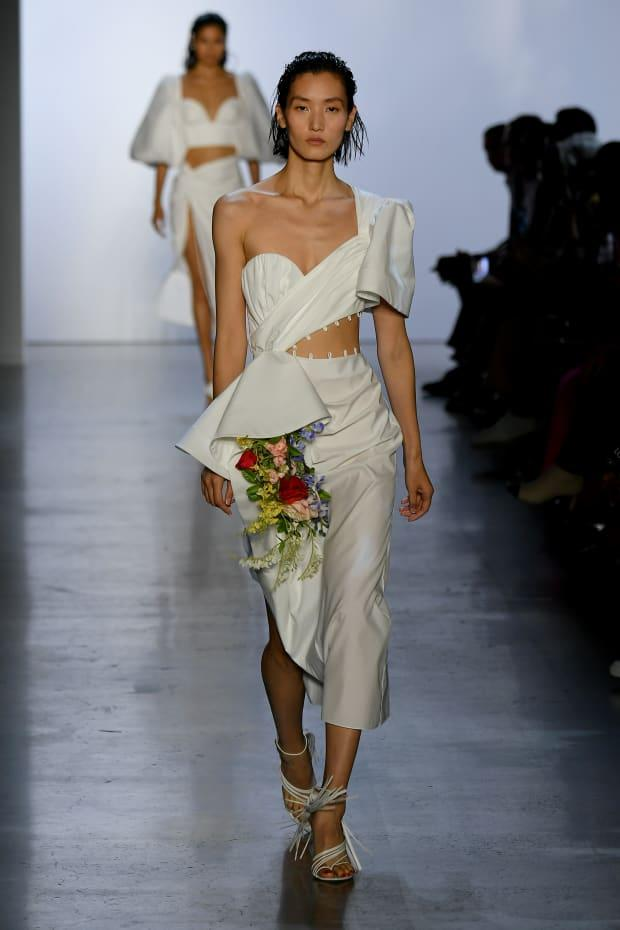 <p>A look from the Prabal Gurung Spring 2020 collection. Photo: Mike Coppola/Getty Images for NYFW: The Shows</p>